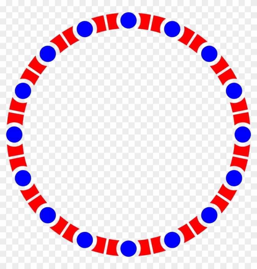 Photo Illustration Of A Blank Blue And Red Circle Frame - Piano Keys Circle #205816