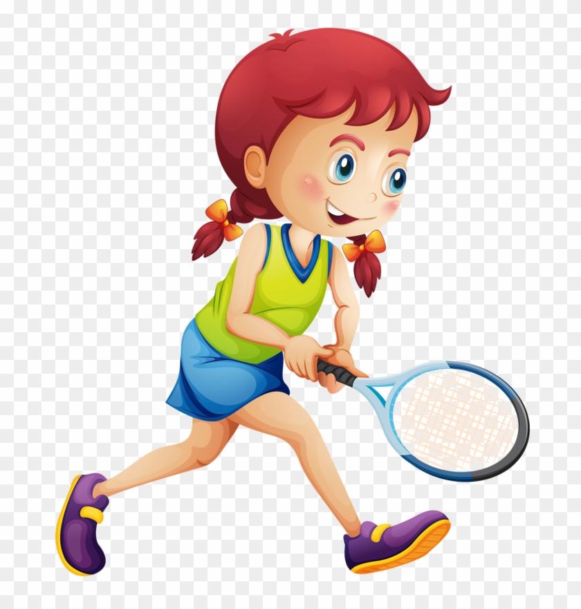 Tennis Girl Racket Illustration - Girl Play Tennis #205993