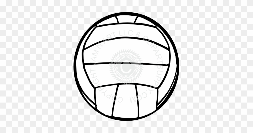 Black And White Volleyball - Black And White Volleyball #206018