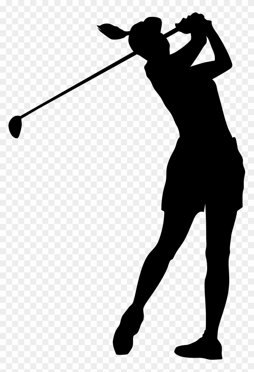 Free Disc Golf Clipart Female Golfer Silhouette Png Free