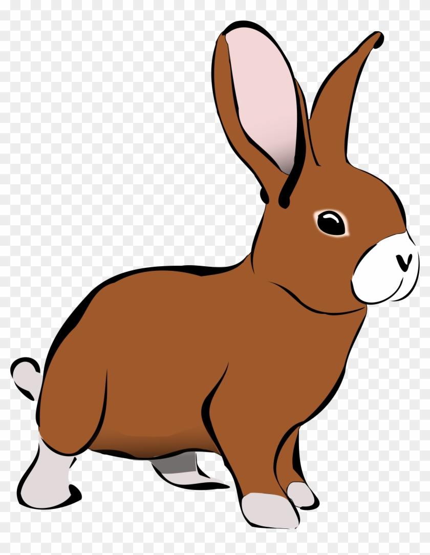 Clipart Brown Rabbit - Rabbit Clipart #206580