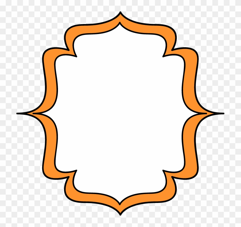 Bracket Clip Art Orange Double Bracket Frame Free Clip - Orange ...