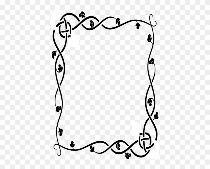 Rose Vine Border Clip Art Vine Border Modifed Hi - Music Of The Incredible String Band #206791