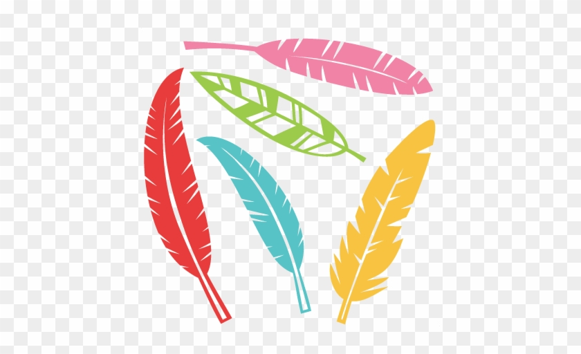 Feather Set Svg Scrapbook Cut File Cute Clipart Files - Free Svg Files Feathers #206875