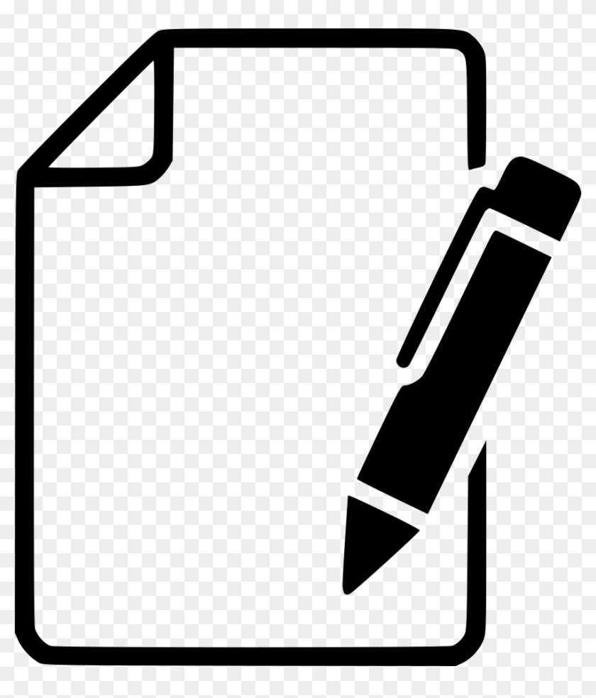 paper pen svg png icon free download - pen and paper icon - free