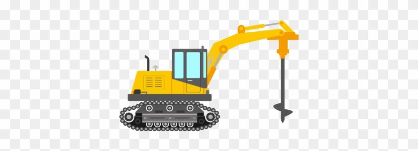 Screw Piles - Piling Machine Clipart - Free Transparent PNG