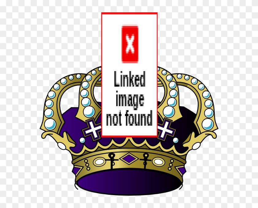 Ankh Crown Clip Art At Clker - 3drose Royal Purple N Gold Crown, Mouse Pad, 8 By 8 #207137