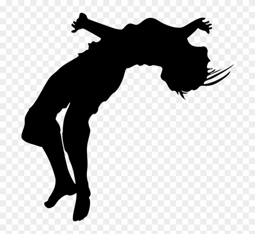 Young Girl Doing Gymnastics, Gymnastics Clipart Jump - Guy Doing A Flip #207369