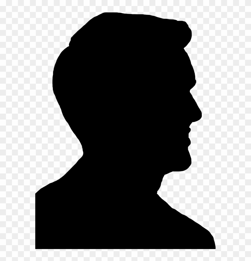 Face Silhouettes Of Men, Women And Children - Man Face Silhouette Png #207429