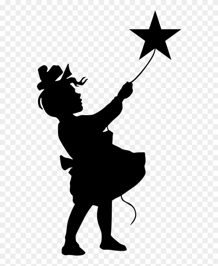 Girl Catching A Star Art Pinterest Silhouettes, Cricut - Little Girl Silhouette #207512