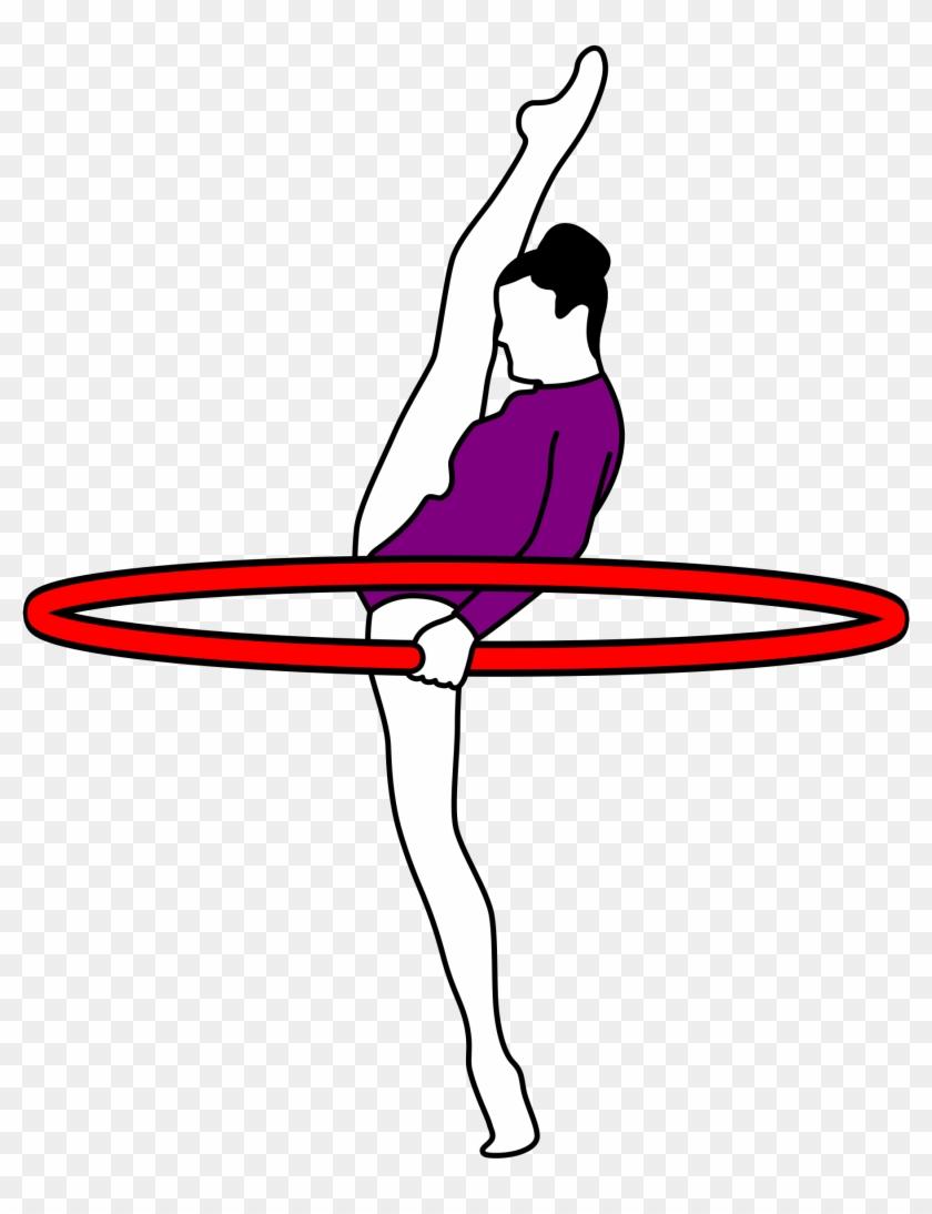 Clipart - Gymnastics Archery - Rhythmic Gymnastic Gif Png #207535