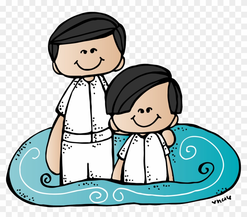 Baptism Ideas - Lds Black And White Clipart Of Baptism #207714