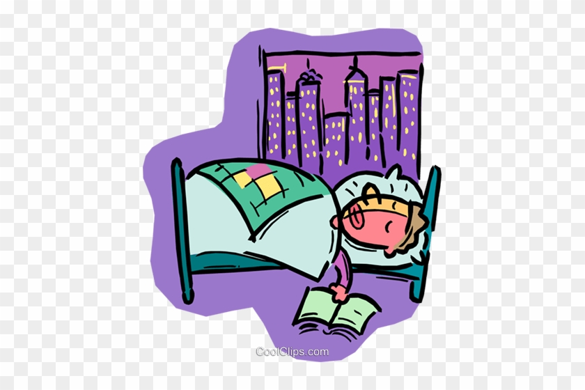 Person Sleeping In Bed Royalty Free Vector Clip Art - Person Sleeping In Bed #1310644