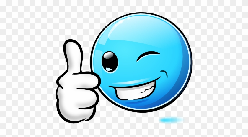 Blue Smiley Face Thumbs Up - Blue Smiley Thumbs Up #1310772