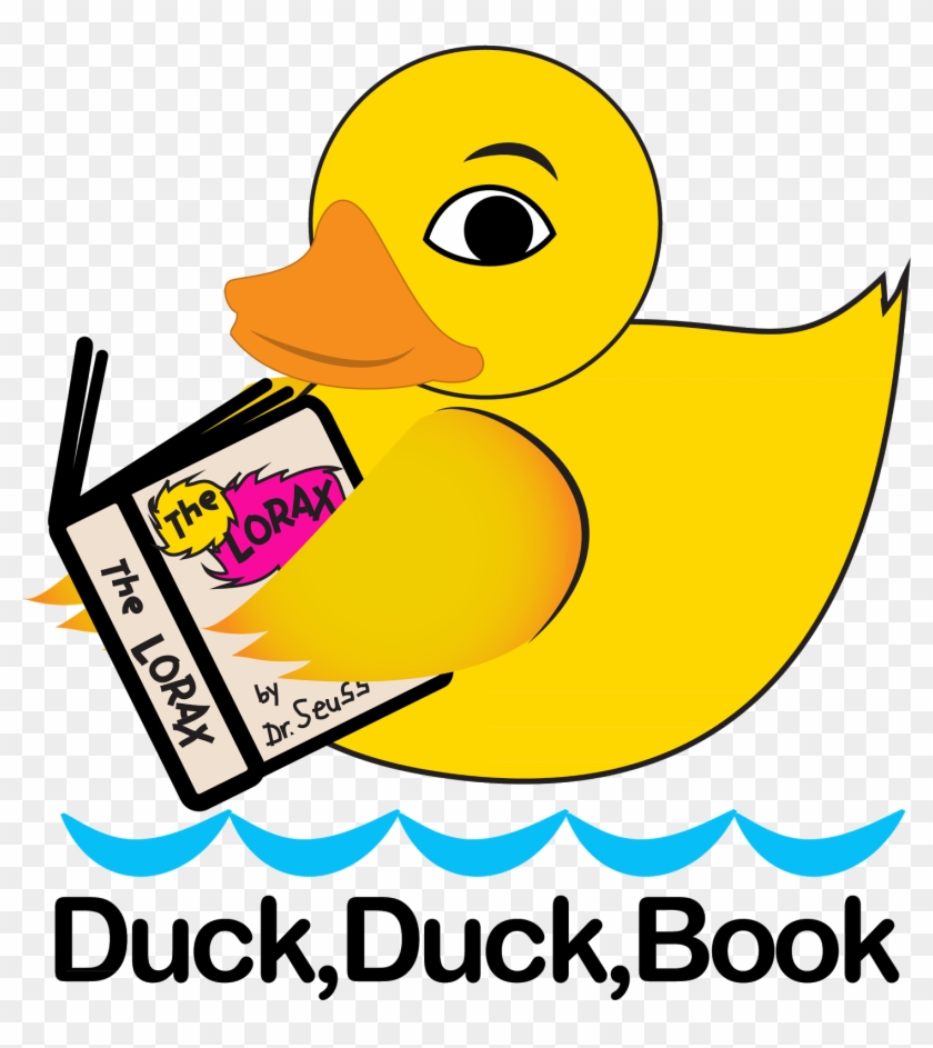 """""""duck, Duck, Book"""" Is Available On Mini Bookmarks - Duck Reading A Book #1311989"""