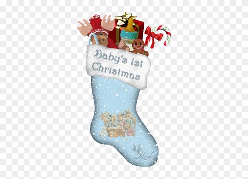 Merry Christmas Cute Girl - Baby's First Christmas Gif #1312793