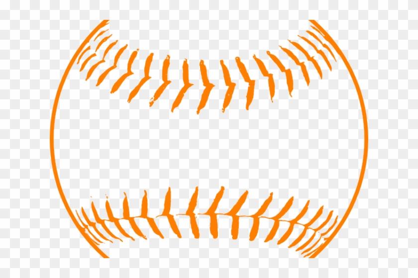 Orange Clipart Softball - Baseball Clip Art Free #1312884