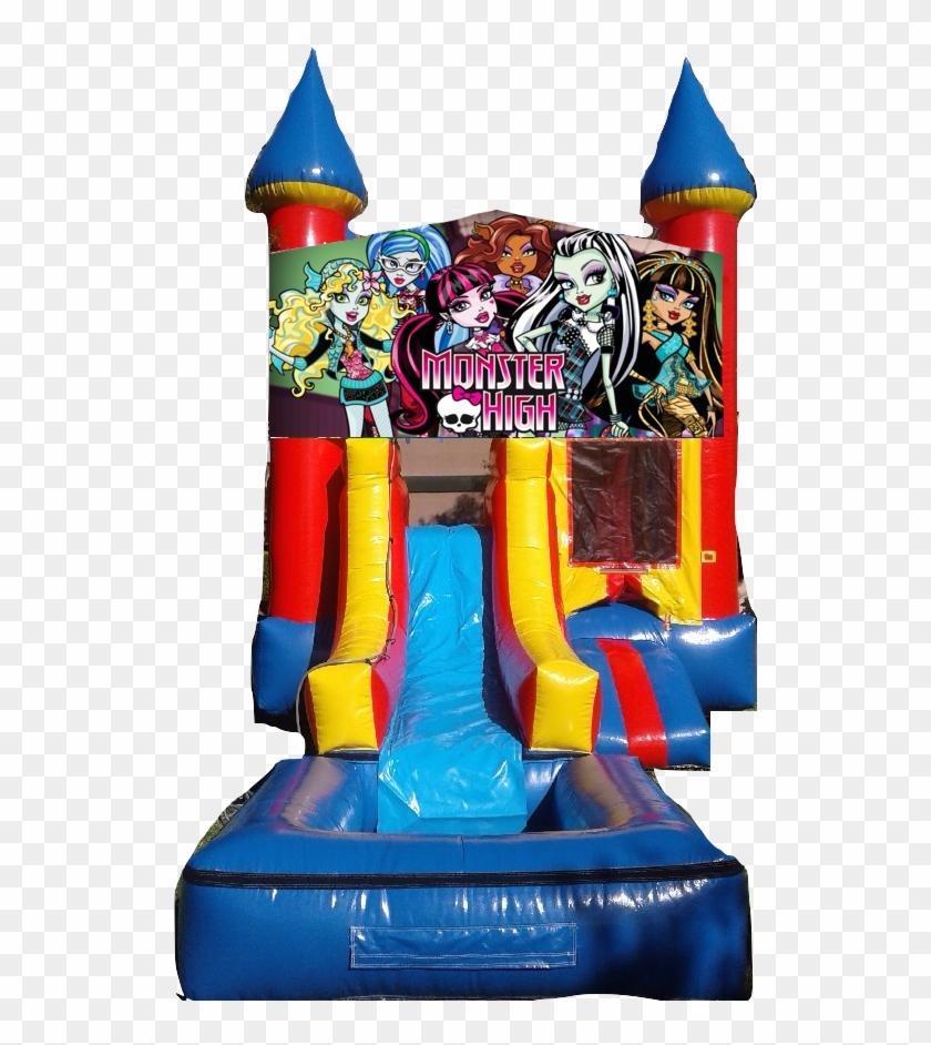 Water Slide Castle Combo Front Jumper Monster High - Paw Patrol Water Slide #1313649