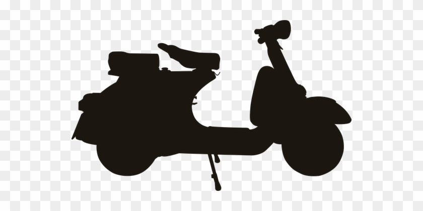 Scooter Vehicle Silhouette Motorcycle Scooter Silhouette Free