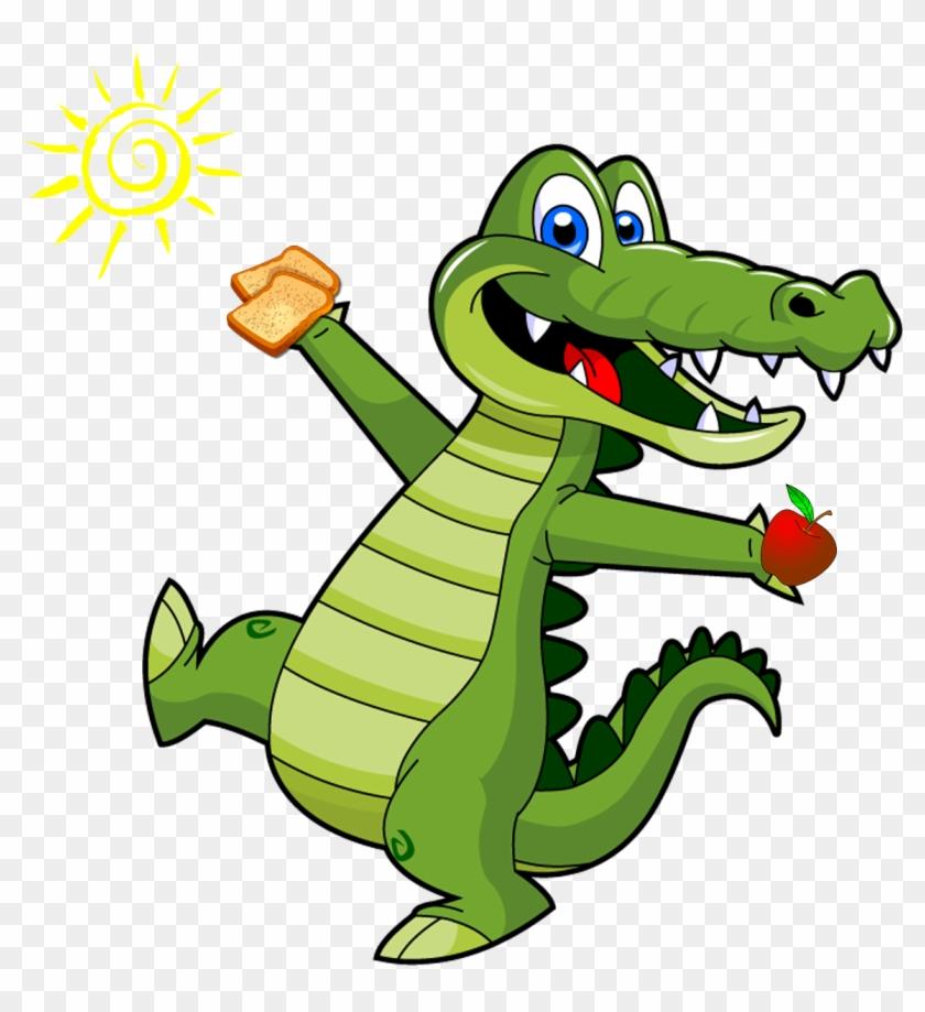 Gator Toast Apple Sun - Crocodile Clipart Png #1314577