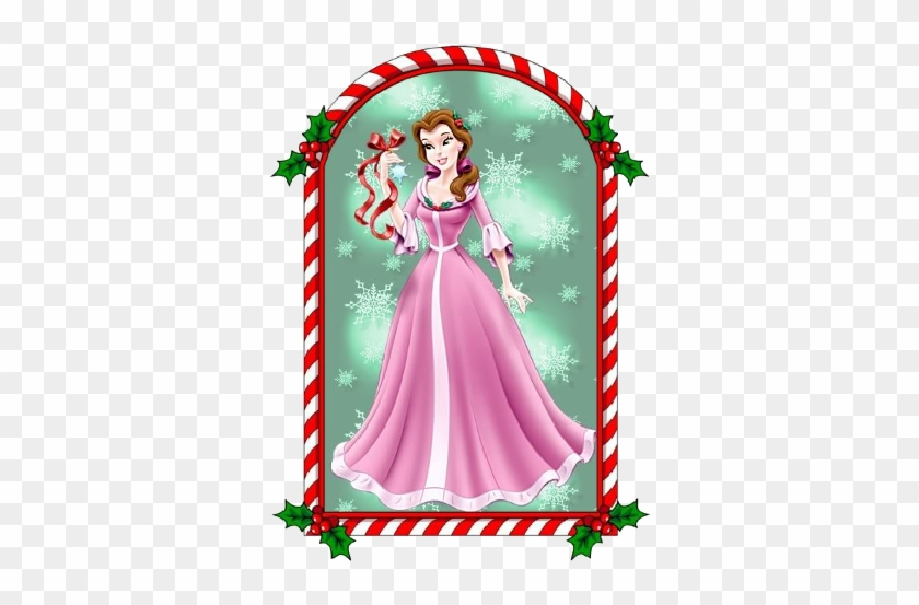 ariel xmas picture window disney princesses christmas belle