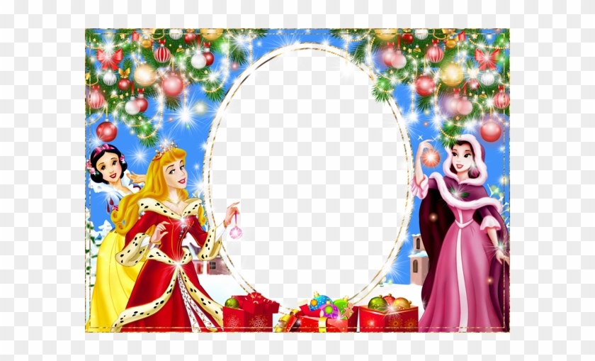 christmas png kids photo frame with princesses disney princess christmas card