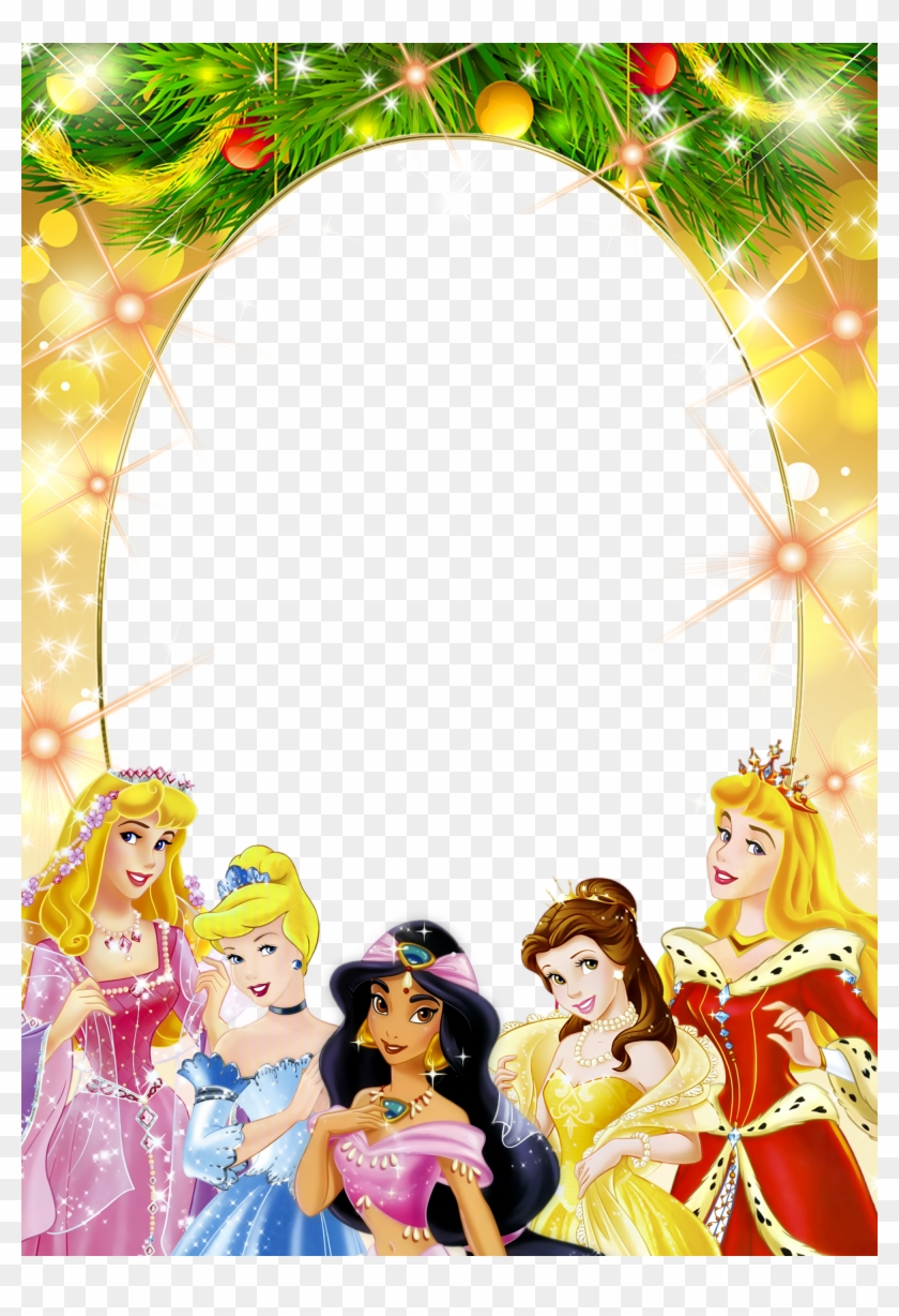 Transparent Kids Png Frame With Christmas Princesses - Disney ...