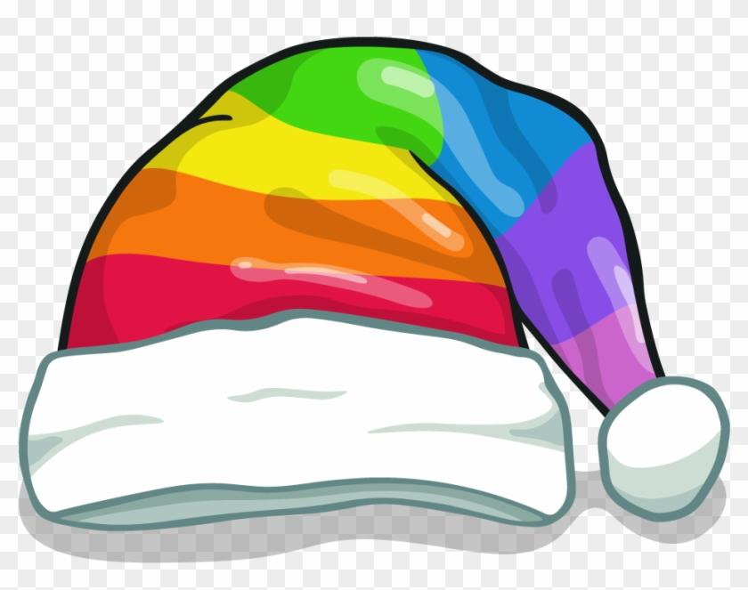 Rainbow Santa Hat - Rainbow Christmas Hat #1315528
