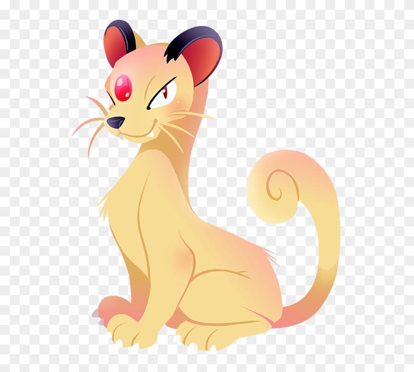 Pikachu Dog Like Mammal Nose Mammal Small To Medium - Persian Pokemon Art #1316486
