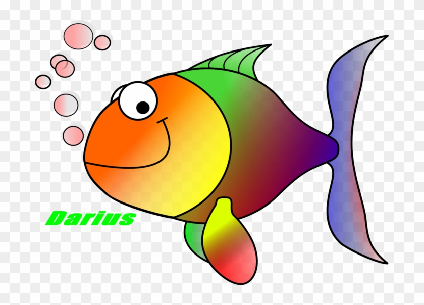 Fry Clipart Darius Fish Svg Iptvnf Clipart - Tropical Fish Shower Curtain #1316880