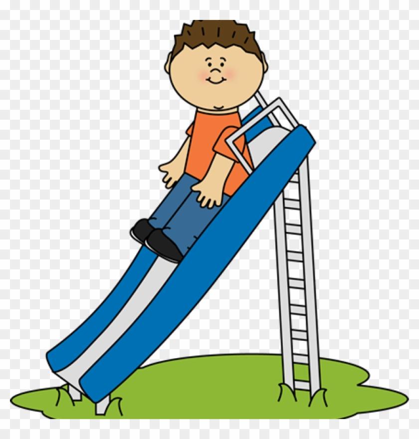 Slide Clipart Kid Playing On A Slide Clip Art Kid Playing - School Kid Playing Clip Art #1316924