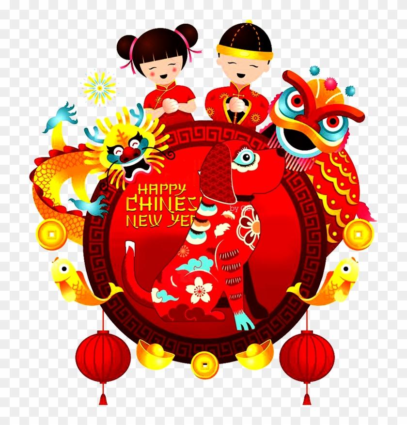 New Year) ตรุษจีน-happy Chinese Day - 新年 海报 2018 #1317643