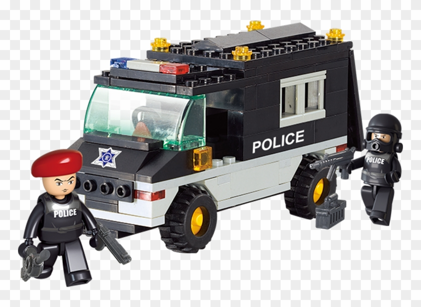 Sluban City Police Swat Action Teams Military Building - Patrol Car - Sluban #1318068
