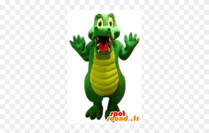 Green Crocodile Mascot, Cute And Funny - Crocodile #1318314
