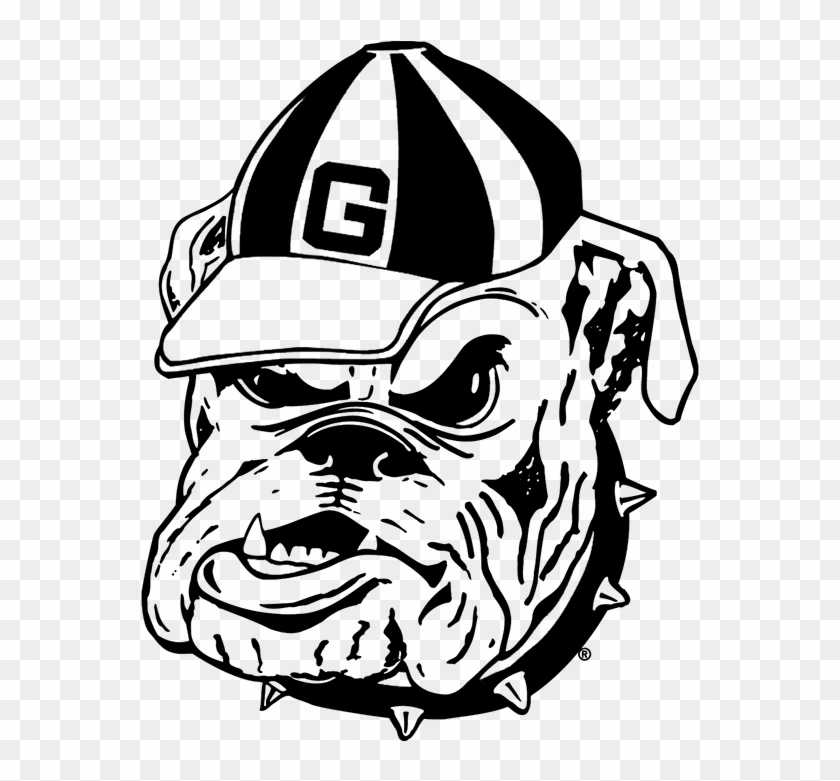 Georgia Nameplate - Etchieve - Com - Ga Bulldogs Coloring Pages - Free  Transparent PNG Clipart Images Download