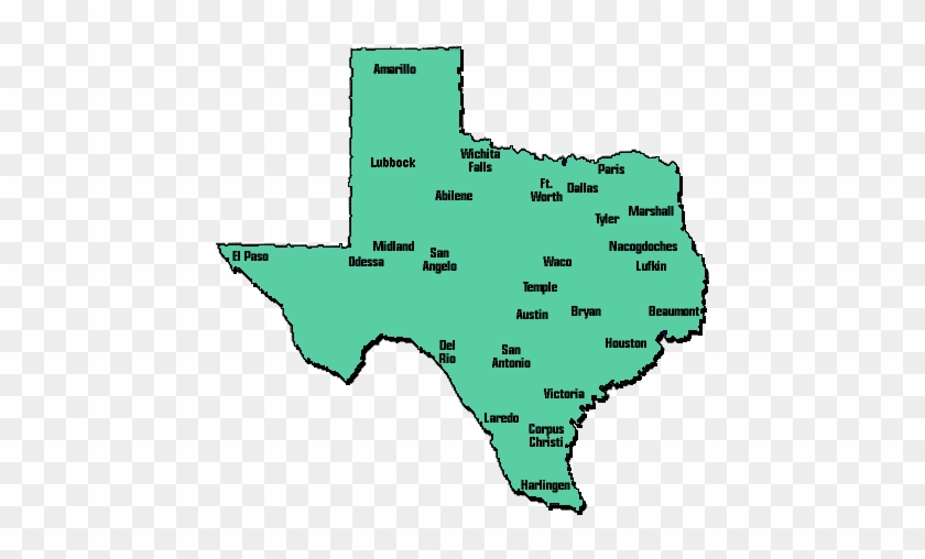Texas Map With City Names Modern Map Of Texas With City Names Emaps World   Names Of Cities
