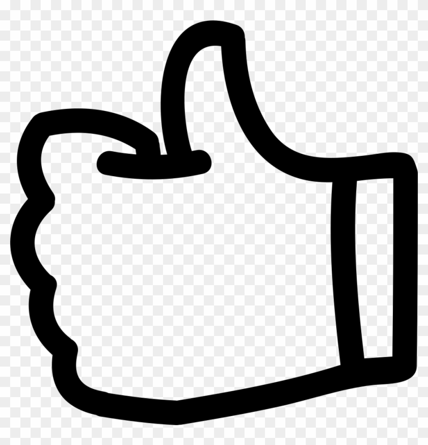 Like Thumb Up Hand Drawn Symbol Outline Comments - Free Icon Thumbs Up #1323330