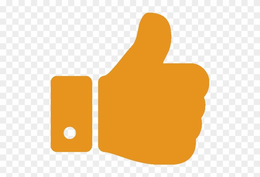 Thumbs Up Hand Symbol - Thumbs Up Icon Orange #1323353