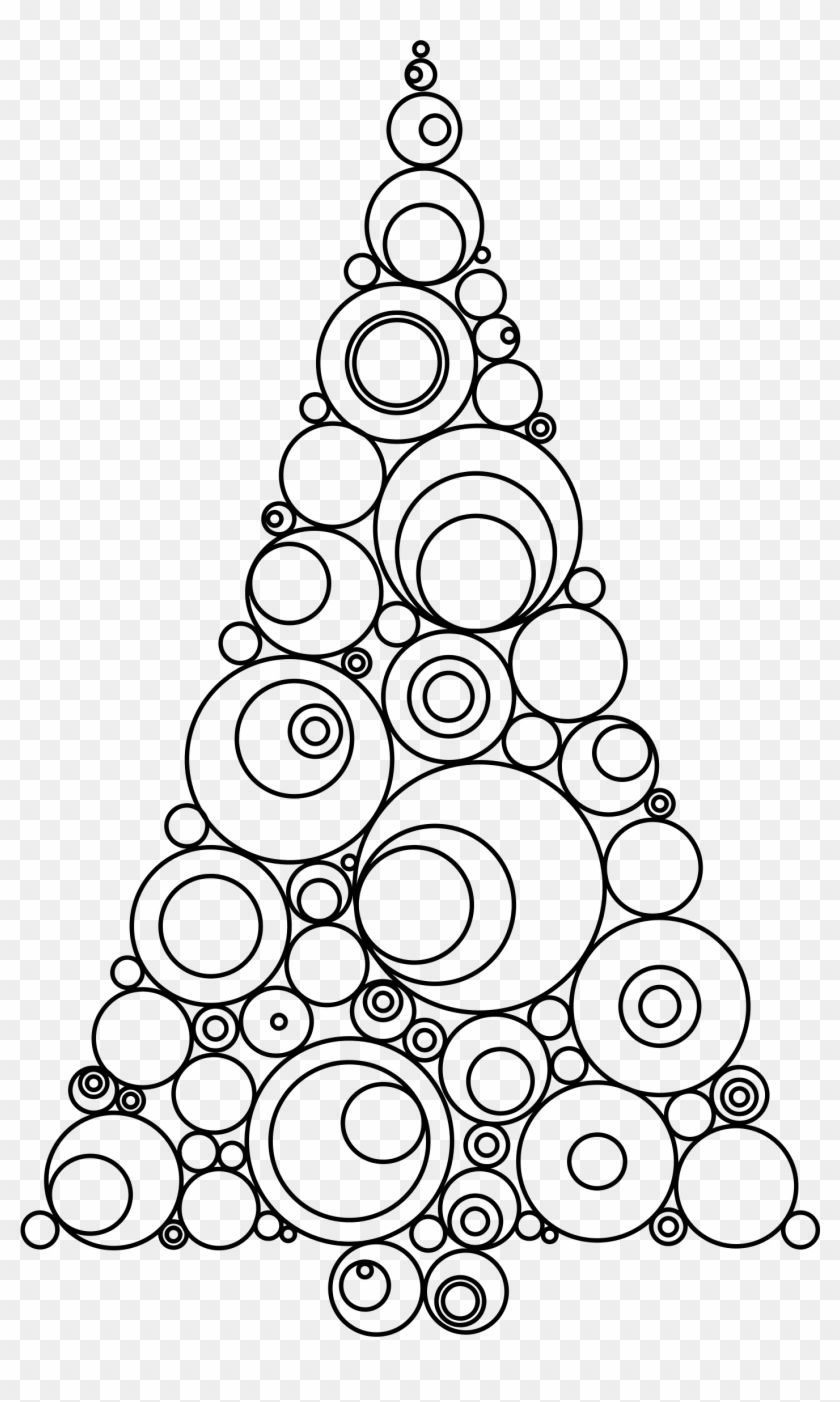 - Clipart - Color Christmas Tree: Adult Coloring Book - Free