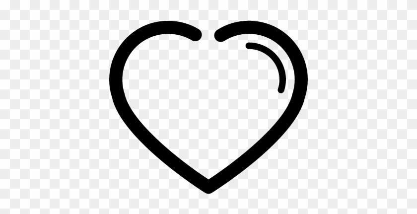 Heart Outline Shape Vector - Heart Shape Outline #1323802