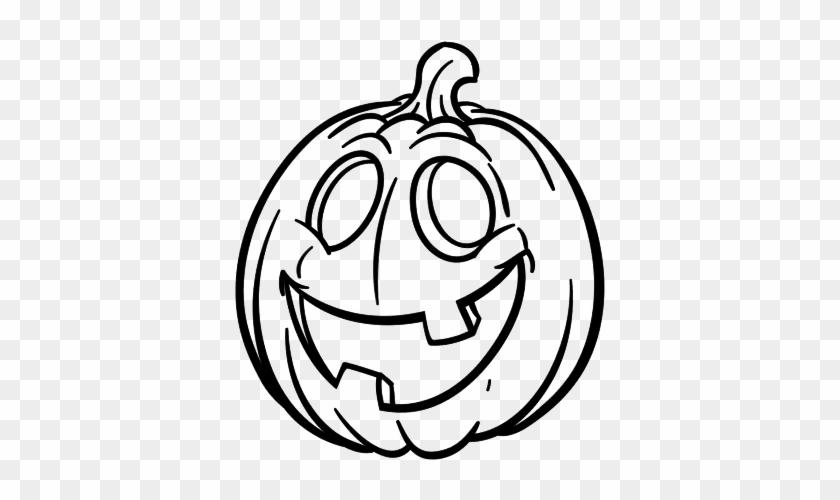 Halloween Pumpkins - Dibujo De Halloween Para Niños En Blanco Y ...