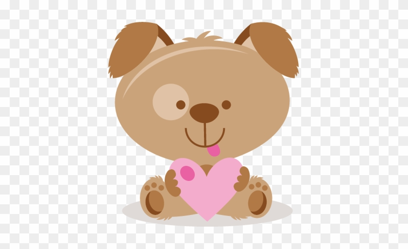 Valentine Puppy Svg Scrapbook Cut File Cute Clipart - Puppy Valentines Svg Files #1324025