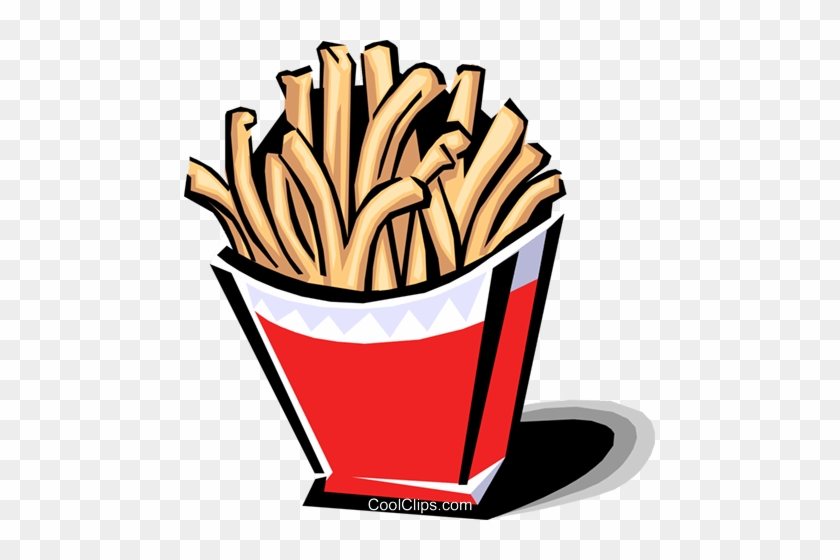 French Fries Royalty Free Vector Clip Art Illustration