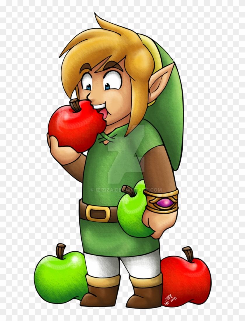Link Eating Apples By Iziziza Legend Of Zelda Link Eating