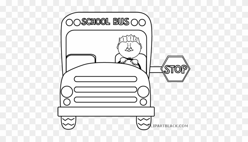Bus Outline Transportation Free Black White Clipart - School Bus Safety  Coloring Page - Free Transparent PNG Clipart Images Download