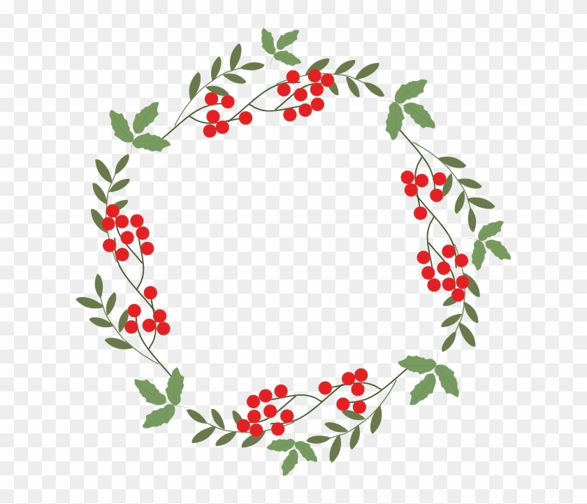 Christmas Wreath Vector.Graphic Design Clip Art Christmas Wreath Graphic Vector