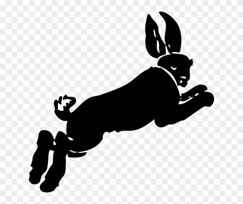 Jumping Silhouette, Cartoon, Running, Rabbit, Hare, - Rabbit On The Run [book] #1325316