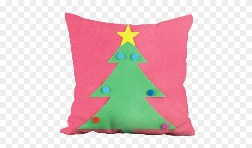 Christmas Tree With Star Pillow - Christmas Tree #1325373