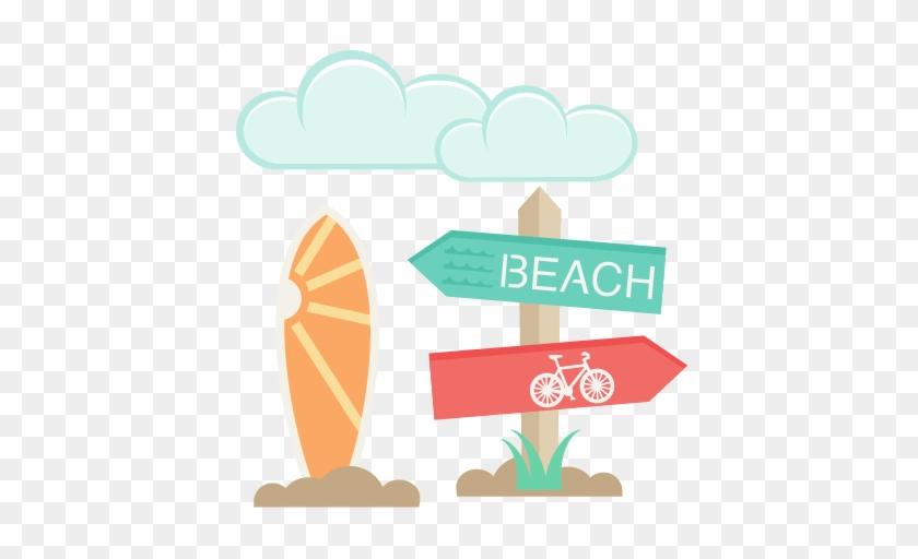 Beach Icons Set Svg Scrapbook Cut File Cute Clipart - Cute