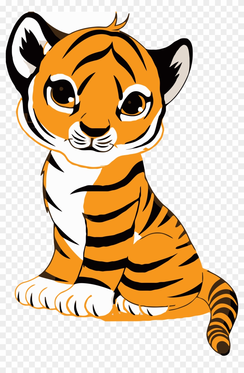 Best Of Thinking Face Clipart Cute Tiger Clip Art Meme - Cute Cartoon Tiger Cub #1325395